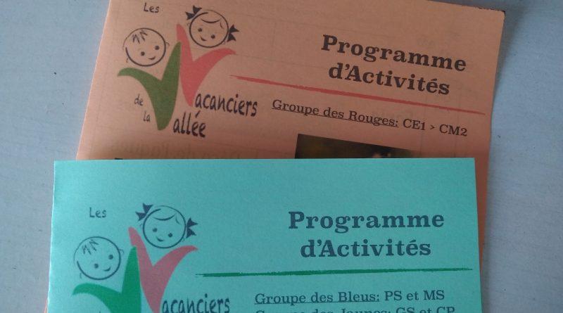 Programmes Vacances de la Toussaint